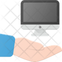 Share Computer Hold Icon