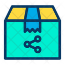 Delivery Package Share Icon