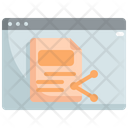 Share Document Share File Share Data Icon