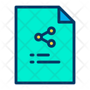 Share Transfer Share Data Icon