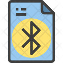 Bluetooth Share File Share Document Icon