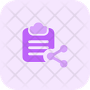 Share File Share Clipboard Document Icon