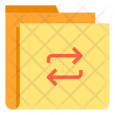 Data Tarnsfer Transaction Folder Share Folder Icon