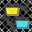 Share Folder Folder Transferring Folder Exchanging Icon