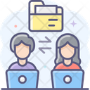 Share Folder Transfer Folder Exchange Folder Icon