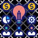 Share Ideas Participation Light Icon
