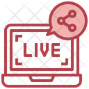 Share Live Streaming Live Share Icon
