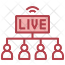Share Live Streaming Sharing Live Icon