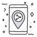 Share Location Share Direction Mobile Location Icon