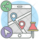 Share Location Live Location Location Pointer Icon
