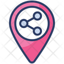 Share Location Mobile Transfer Icon