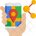 Share Location Smartphone Share Icon