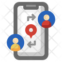 Share Location Smartphone Maps Icon
