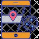 Share Mobile Location Share Location Share Destination Icon