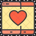Mobile Love Social Media Love Love Chat Icon