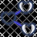 Share Love Share Romance Share Heart Icon