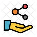 Hand Share Connect Icon