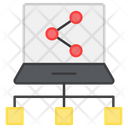 Laptop Network Laptop Connections Sharing Network Icon