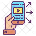 Share Online Movie Broadcast Movie Share Video Icon