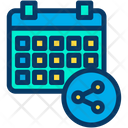 Share Schedule Calender Icon