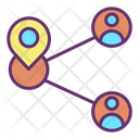 Share User Location Icon