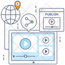 Digital Marketing Video Publicity Video Marketing Icon