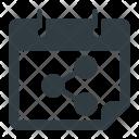Calendar Share Interaction Icon