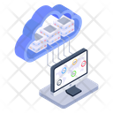 Cloud Server Shared Hosting Shared Datacenter Icon