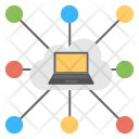 Shared Cloud Computing Icon