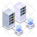 Servers Network Shared Servers Shared Data Servers Icon