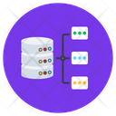 Data Network Shared Database Database Network Icon