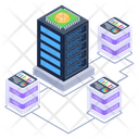 Connected Servers Shared Hosting Shared Datacenter Icon