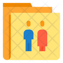 Person Folder Shared Folder Icon