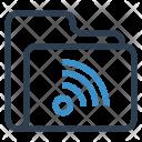 Wifi Folder Data Icon