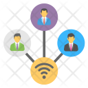 Shared Network Digital Icon