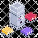Server Network Shared Server Server Connection Icon
