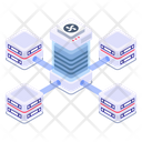 Servers Network Shared Servers Shared Data Centers Icon