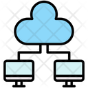 Shared Systems Shared Cloud Icon