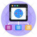 Shared Global Network Shared Web Hosting Shared Web Network Icon