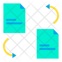 File Sharing Exchange File Document Sharing Icon