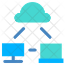 Sharing Cloud Computing Cloud Connection Icon