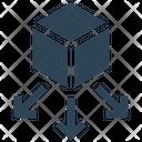 Big Data Box Sharing Icon