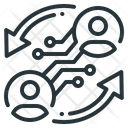 Sharing Economy Interact Exchange Icon