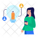 Sharing Creativity Sharing Ideas Sharing Innovation Icon