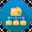 Sharing Settings Cogwheel Data Center Icon