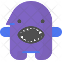 Shark Character Creature Icon