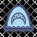 Shark Sea Horror Icon