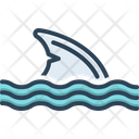 Shark Feather Wing Icon