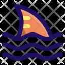 Shark Fin Ocean Icon