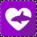 Love Ocean Shark Icon